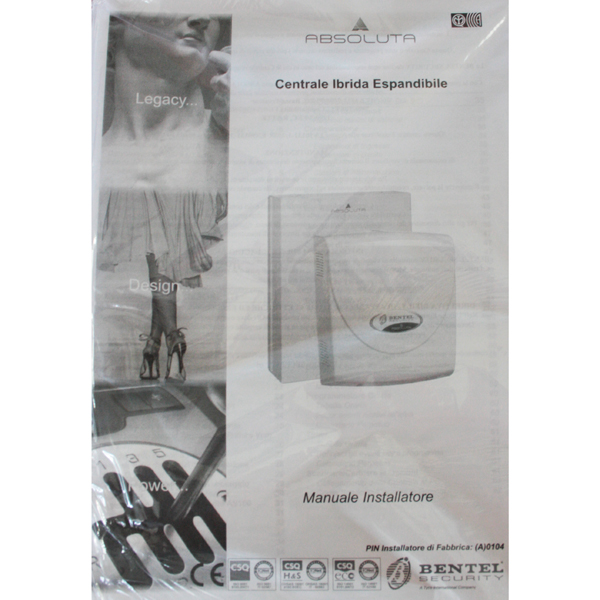 Scheda tecnica kit manuale absoluta italiano centrali kit for Bentel absoluta manuale installatore
